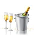 Frozen champagne vector