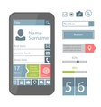 Mobile flat ui elements vector