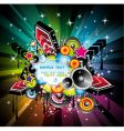 Rainbow disco music background vector