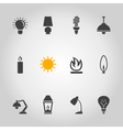 Light an icon vector