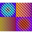 Set of dark abstract spectrum background lines vector