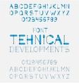 Alphabet letters design vector
