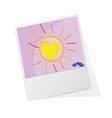 Photo frame with sun vector