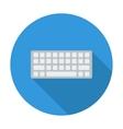 Keyboard flat icon vector