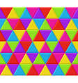 Multicolored triangles seamless background pattern vector
