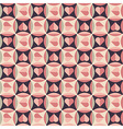 Geometrical pattern with hearts vector