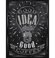 Poster good idea coffee chalk vector