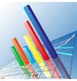 Progressive bar chart abstract vector