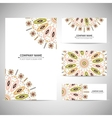 Business card template in native style vector
