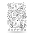 Doodle element with concept of a creative idea vector