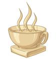 Golden coffee cup vector