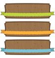 Wooden banners vector