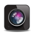 Color photo camera icon vector