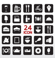 Food and beverage icon set eps10 vector