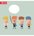 Business man raise hand - - eps10 vector