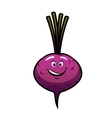 Cheeky little purple cartoon beetroot vector