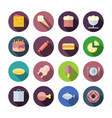 Flat design icons for food vector