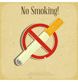 The sign no smoking vector