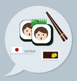 Travel collection japan vector
