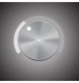 Metal volume button vector