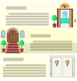 Entrance flat icons vector