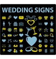 Wedding signs vector