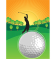 Golf playing vector