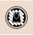 Vintage retro badge  tag  label  shopping bag vector