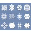 Set of 12 snowflakes vector