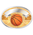 Basketball badge and banner vector