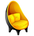 A chair with pillows vector