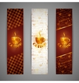 Set of banners with coffee cup vector