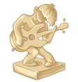 Golden statuette of the guitar player vector