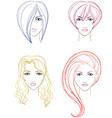 Women faces vector