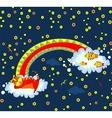 Cat dreams of fish sign icon vector