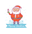 Santa claus christmas greetings vector