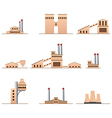 Set of icons of industrial buildings vector