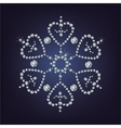 Snowflake made from diamonds vector
