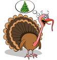Fat turkey do not like christmas vector