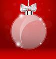 Christmas greeting card with christmas ball vector