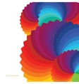 Abstract background with spectrum wheels vector