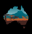 Australia travel design template vector