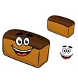 Freshly baled smiling loaf of brown bread vector