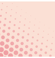 Pink background with dots from small to big vector
