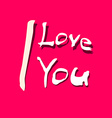 I love you title on red background vector