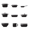 Set of kitchenware icons vector