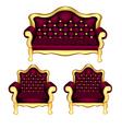 Luxury sofa chair vector
