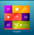 Infographic banner design elements numbered lists vector