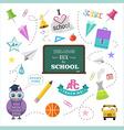 School design elements back to school flat design vector