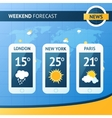 Weather forecast background vector